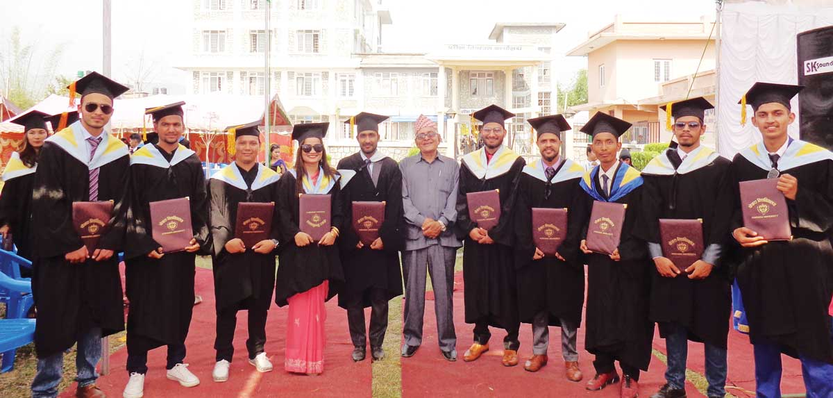 Some of the BE Computer and BCA Graduates with the Principal