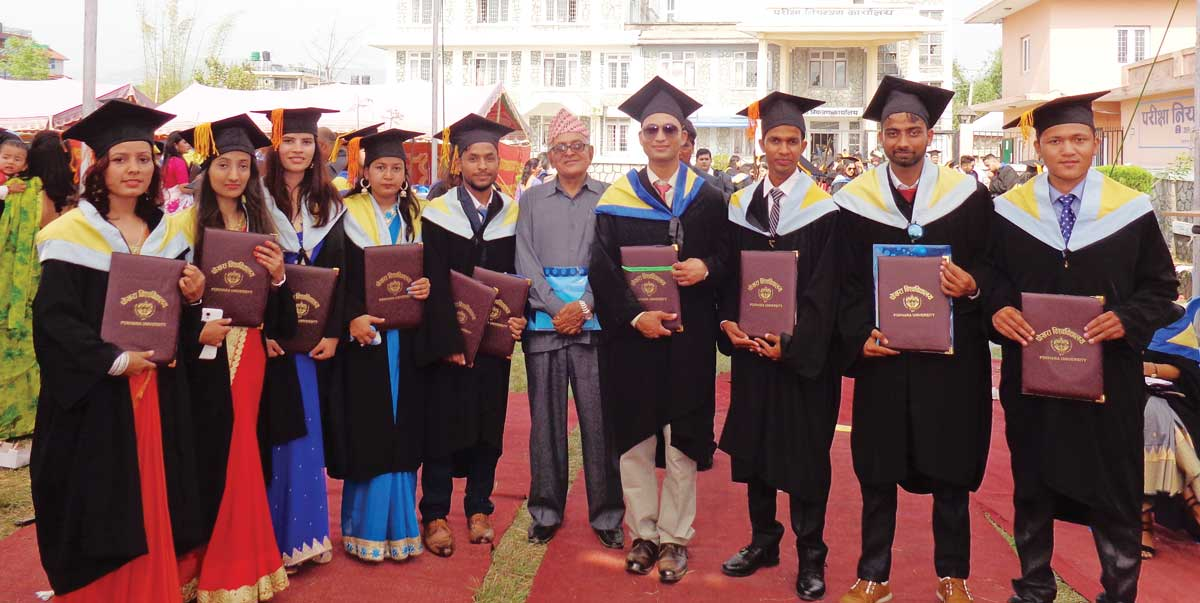 Some of the Graduates of BE Civil with the Principal