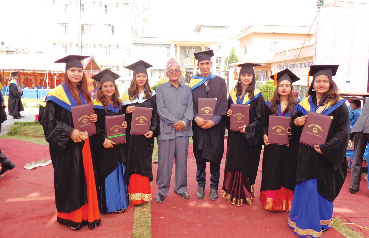 Some of the Graduates of BBA with the Principal