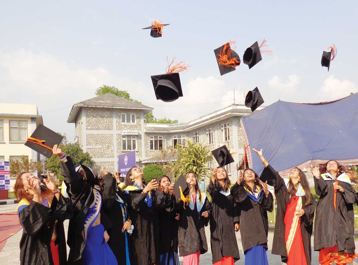 Some of the NAST Graduates sharing happiness on being Convocated